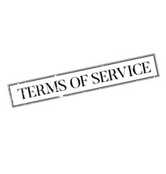 Terms of service rubber stamp vector