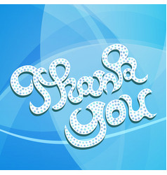 Thank you hand lettering greeting card vector