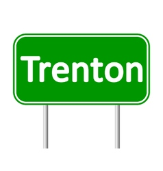 Trenton green road sign vector