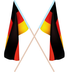 two german flags vector image