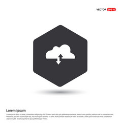 upload download cloud icon vector image