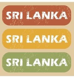Vintage Sri Lanka stamp set vector