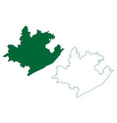 Visakhapatnam district andhra pradesh state vector