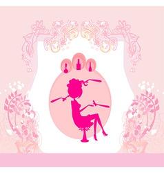 woman in beauty salon vector image