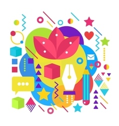 Abstract bright colorful paint artist vector