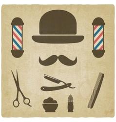 barber old background vector image vector image