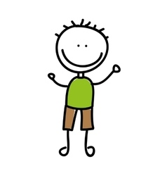 drawing boy isolated icon design vector image