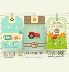 farm price tag label vector image