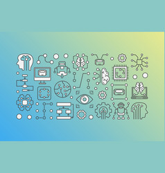 Machine learning process modern vector