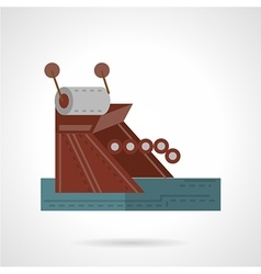 Mooring equipment flat style icon vector image vector image