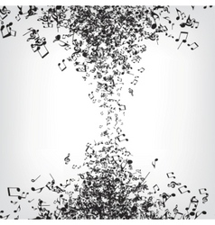 music notes texture vector image vector image