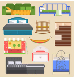 sleeping bed furniture design bedroom with vector image vector image