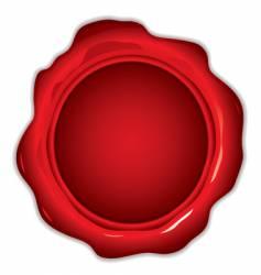 wax seal round vector image vector image