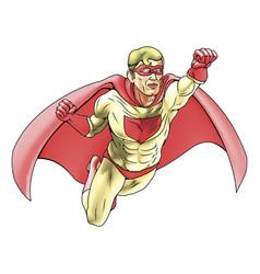 superhero comicbook style vector image