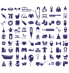 baby items icons vector image vector image