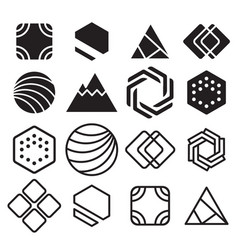 geometric abstract contour shapes with different vector image vector image