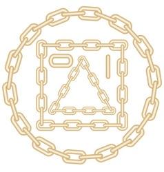 golden chain elements vector image