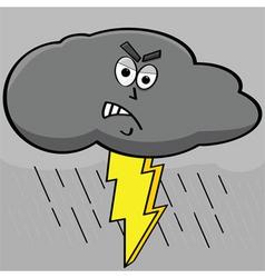 lightning cloud vector image vector image
