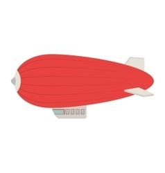 Zeppelin ballon fly air icon vector