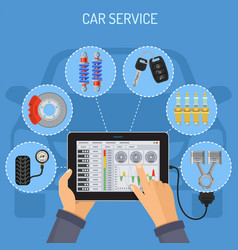 car service and maintenance concept vector image