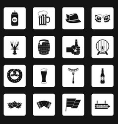 oktoberfest icons set squares vector image vector image