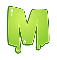 slimy font type letter m vector image vector image