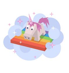 unicorn flat image vector image vector image