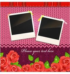 Vintage Photo Frames vector image