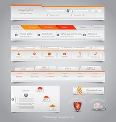 Web site navigation menu pack 23 vector image