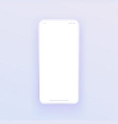 3d like smartphone mockup with blank white vector image