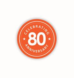 80 years anniversary celebrating retro vintage vector