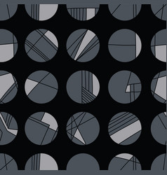 abstract charcoal geometric circle grid vector image
