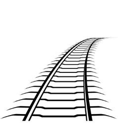 Abstract railway line vector