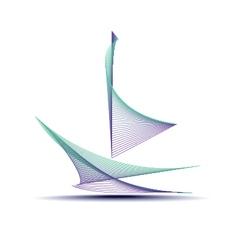 Abstract sailing boat vector