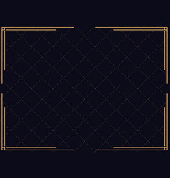 art deco frame vintage linear border design vector image