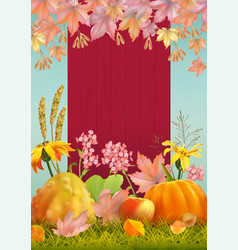 autumn poster flyer vector image