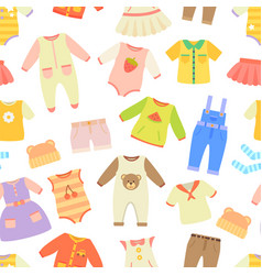 Baby clothes seamless pattern vector