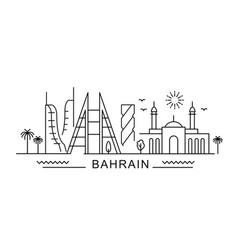 bahrain minimal style city outline skyline with vector image