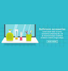bathroom accessories banner horizontal concept vector image