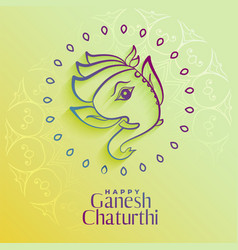 Beautiful lord ganesha figure in creative style vector