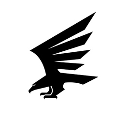 Black eagle geometric heraldic icon vector