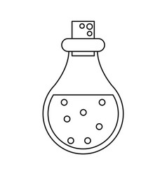 bottle elixir love potion line vector image