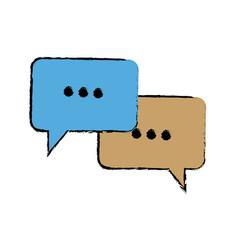 Bubble speech talk message communication web app vector