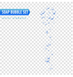 Bubbles under water on vector