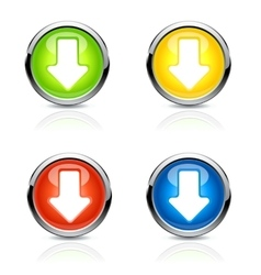 Button arrow vector image