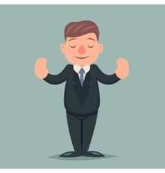 Calm Down Peace Businessman Pacify Emotion vector