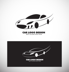 Car logo design black white vector