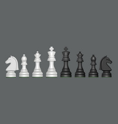 chess collection blank figures for strategy vector image
