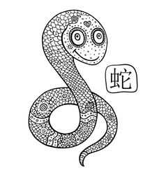 Chinese Zodiac Animal astrological sign snake vector