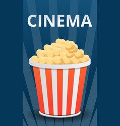 cinema popcorn concept banner cartoon style vector image